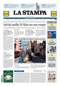 La Stampa Imperia e Sanremo - 19 Ottobre 2018