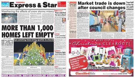 Express and Star Sandwell Edition – December 12, 2017