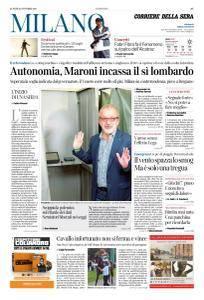 Corriere della Sera Milano - 23 Ottobre 2017