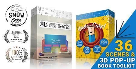 3D Pop-Up Book Toolkit featuring Mister Cake - Toolkit & Story Construction Set - Project for After Effects (VideoHive)