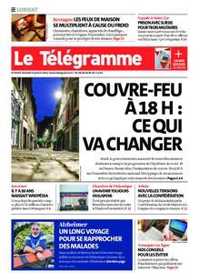 Le Télégramme Lorient – 15 janvier 2021