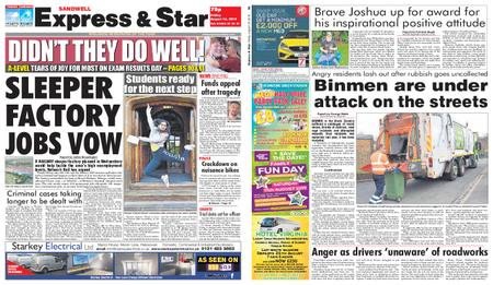 Express and Star Sandwell Edition – August 16, 2019