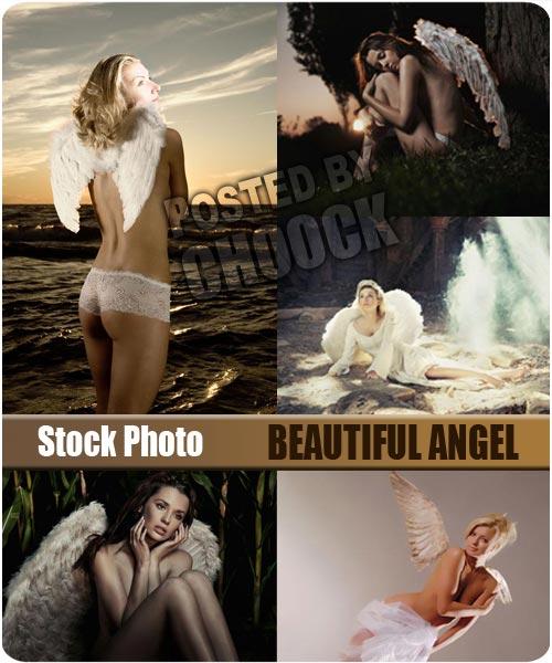 Stock Photo: Beautiful angel