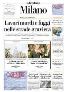 la Repubblica Milano - 29 Novembre 2019