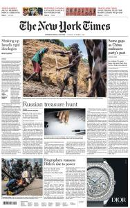 International New York Times - 1 October 2019