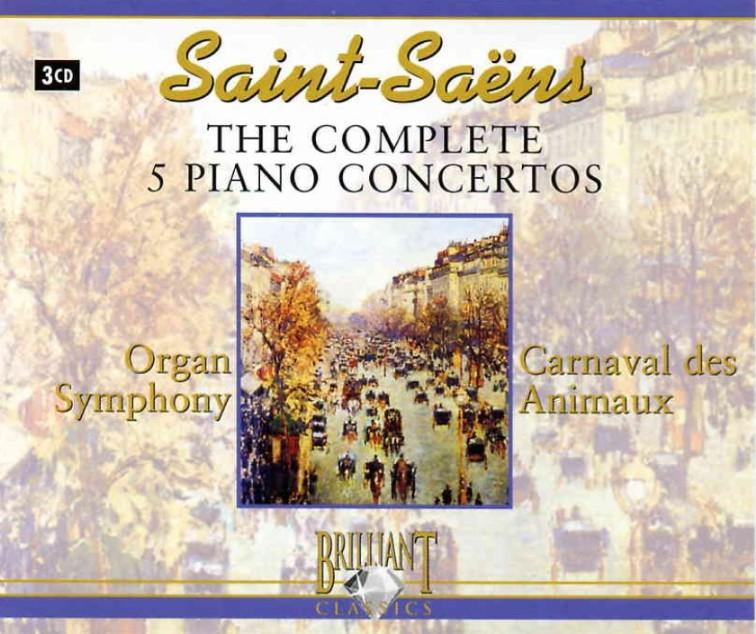 Saint Saens the complete 5 Piano Concertos 3 CD