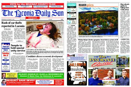 The Laconia Daily Sun – October 31, 2018