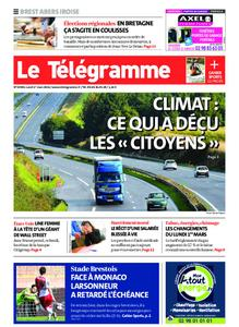 Le Télégramme Brest Abers Iroise – 01 mars 2021