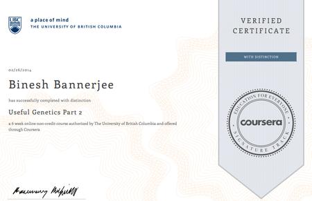 Coursera - Useful Genetics Part II (University of British Columbia)