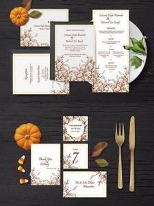 Vintage Wedding Invitation Suite