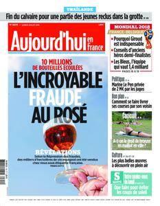 Aujourd'hui en France – 09 juillet 2018