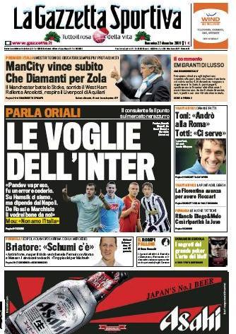 La Gazzetta dello Sport (27-12-09)