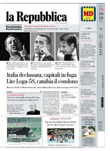 la Repubblica - 20 Ottobre 2018