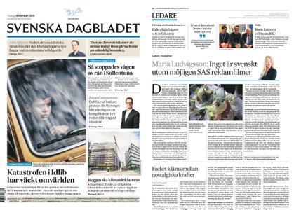 Svenska Dagbladet – 18 februari 2020