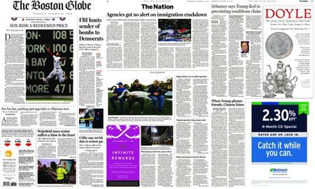 The Boston Globe – October 25, 2018
