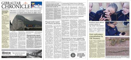Gibraltar Chronicle – 16 March 2020