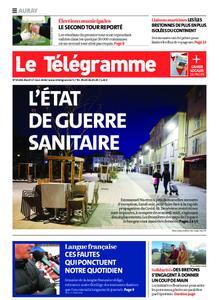 Le Télégramme Auray – 17 mars 2020