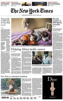 International New York Times - October 10, 2017