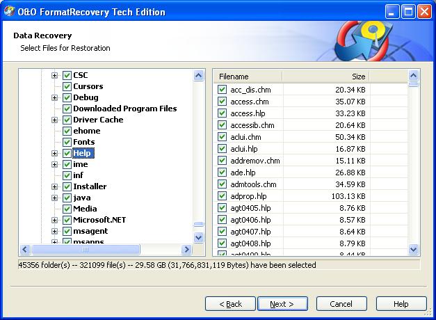 Portable O&O FormatRecovery V4