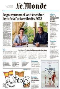 Le Monde du Mardi 31 Octobre 2017