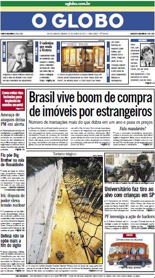 Jornal O Globo - 25 de junho de 2011