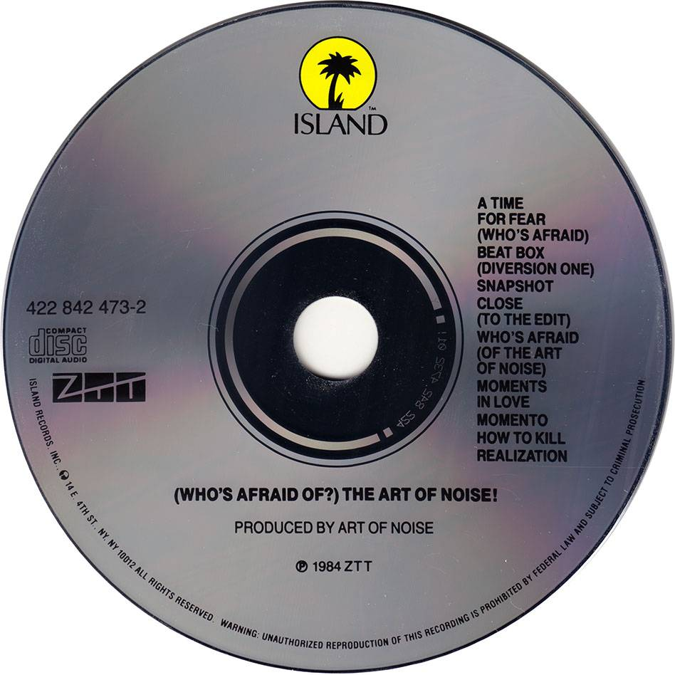 The Art Of Noise Whos Afraid Of The Art Of Noise 1984 Us