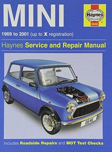 Mini 1969 to 2001 (up to X registration). Haynes Service and Repair Manual..