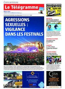 Le Télégramme Concarneau – 16 juillet 2019
