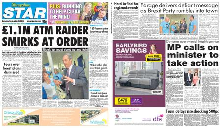 Shropshire Star Shrewsbury Edition – September 21, 2019
