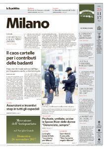 la Repubblica Milano - 25 Novembre 2017