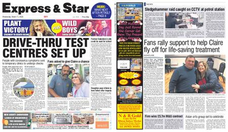 Express and Star City Edition – March 11, 2020
