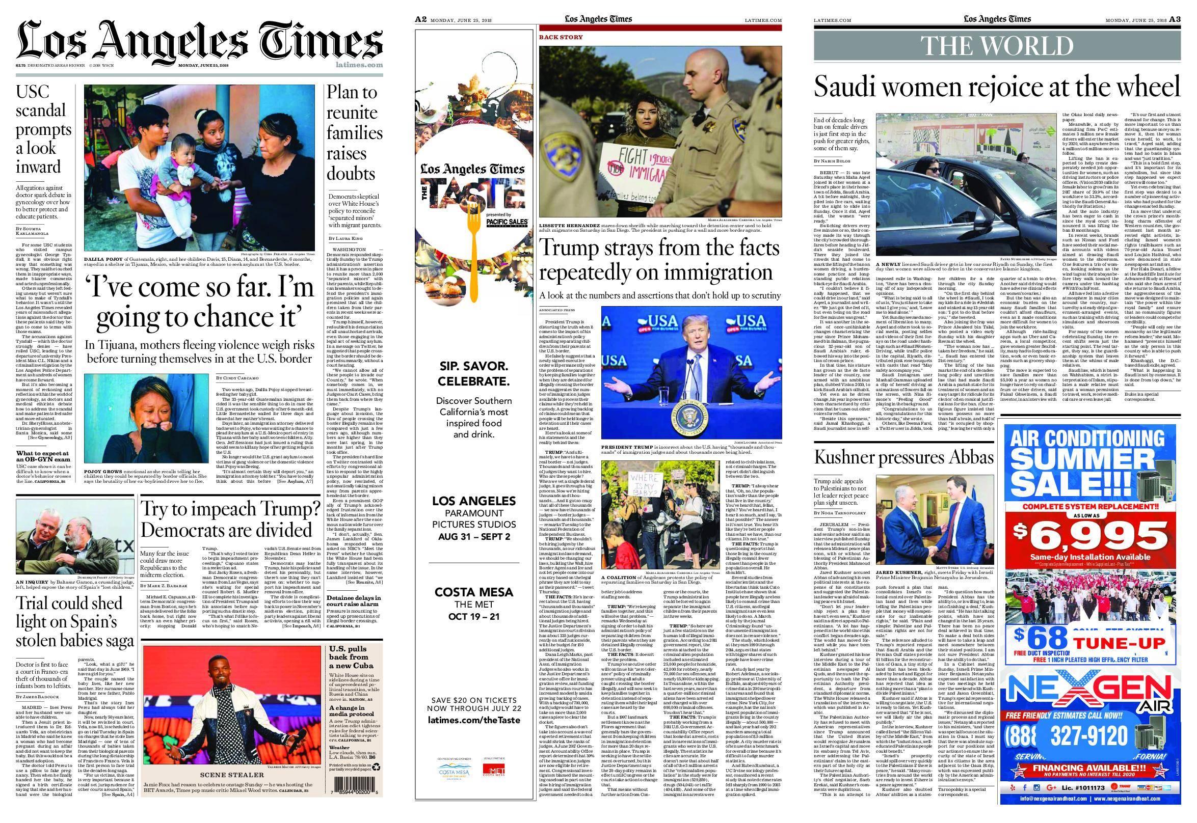Los Angeles Times – June 25, 2018 / AvaxHome