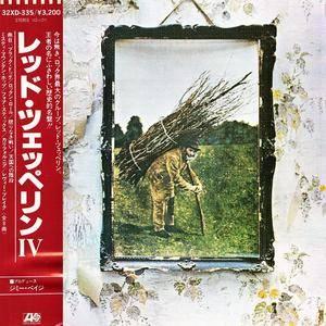 Led Zeppelin - IV {Untitled} (1971) [32XD-335, Glass/Silver matrix, Japan 1st Press, 1985]