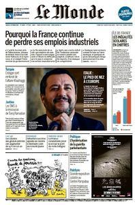 Le Monde du Jeudi - 25 Octobre 2018