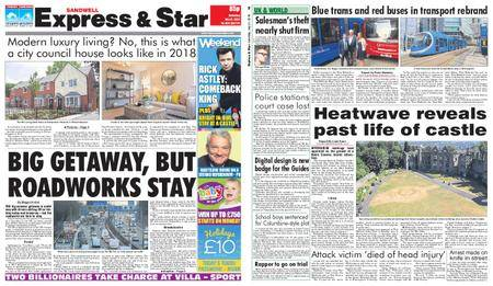 Express and Star Sandwell Edition – July 21, 2018