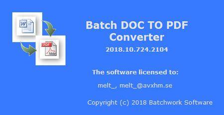Batch DOC to PDF Converter 2019.11.504.2140