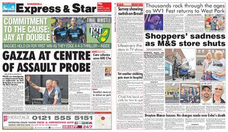 Express and Star Sandwell Edition – August 13, 2018