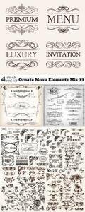 Vectors - Ornate Menu Elements Mix 22