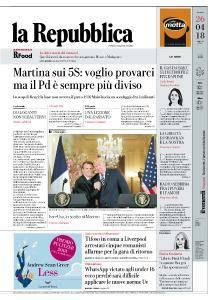 la Repubblica - 26 Aprile 2018