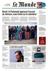 Le Monde du Jeudi 24 Octobre 2019