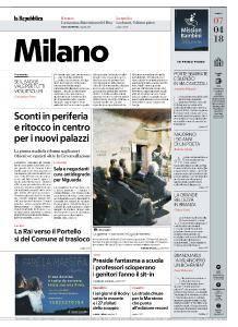 la Repubblica Milano - 7 Aprile 2018