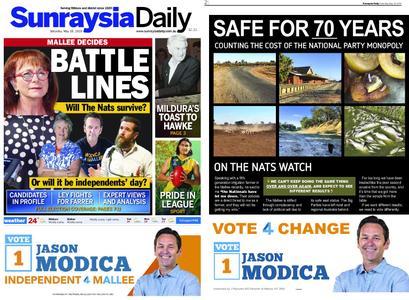 Sunraysia Daily – May 18, 2019