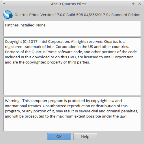 Intel Quartus Prime Standard/Pro 17.0 (Linux) with Device Support