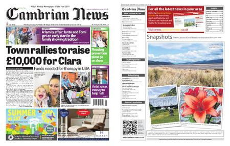 Cambrian News South Ceredigion – 18 July 2019
