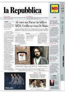 la Repubblica - 4 Marzo 2018
