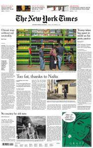 International New York Times - 15 December 2017