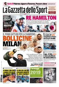 La Gazzetta dello Sport Roma – 31 dicembre 2018