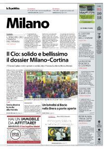 la Repubblica Milano - 5 Ottobre 2018