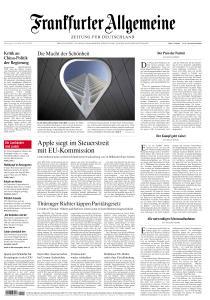 Frankfurter Allgemeine Zeitung - 16 Juli 2020