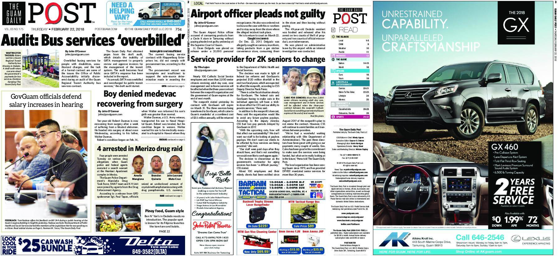 The Guam Daily Post – February 22, 2018